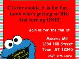 4×6 Party Invitation Templates Cookie Monster Invitation Template 4×6