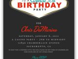 4×6 Party Invitation Templates Fabulous Las Vegas themed Party Invitation 4×6 or 5×7