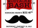 4×6 Party Invitation Templates Red Mustache Bash Invitation Template 4×6