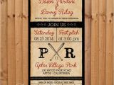 4×8 Wedding Invitations Digital 4×8 Vintage Baseball themed Invitation by