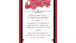 4×8 Wedding Invitations Vintage Firetruck Birthday Party Printable 4×8 Invitation