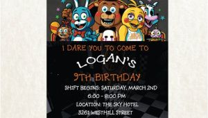 5 Nights at Freddy S Birthday Invitations Five Nights at Freddy S Invitation Five Nights by