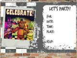 5 Nights at Freddy S Birthday Invitations Five Nights at Freddy S Invitations and by