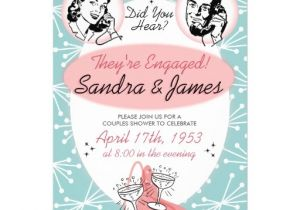 50 S Bridal Shower Invitations 1950s Retro Couples Wedding Shower Invitation 5 Quot X 7