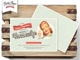 50 S Bridal Shower Invitations 50s Housewife Bridal Shower Invitation Retro 1950s
