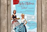 50 S Bridal Shower Invitations Bridal Shower Invitation Perfect Housewife 50s Retro
