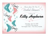 50 S Bridal Shower Invitations Fabulous 1950s Bridal Shower Invitations Zazzle