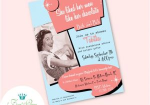 50 S Bridal Shower Invitations Items Similar to 50 39 S Stepford Wives Housewife Bridal