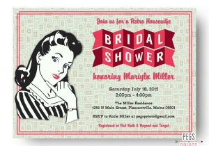 50 S Bridal Shower Invitations Retro Housewife Bridal Shower Invitation Printable by