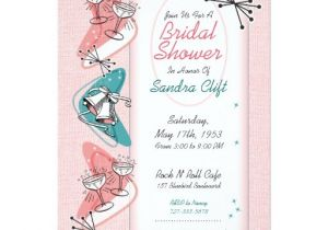 50 S Bridal Shower Invitations Vintage 1950s Bridal Shower Invitations Zazzle