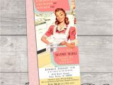 50 S Bridal Shower Invitations Vintage Pastel Retro 50s Housewife Bridal Shower Invitation