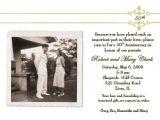 50 Wedding Anniversary Invitations Wording 50th Wedding Anniversary Invitation