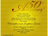 50 Wedding Anniversary Invitations Wording 50th Wedding Anniversary Party Invitation Wording