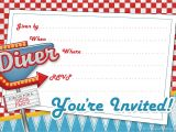 50s Party Invitation Templates Free 1950s Retro Party Invitetemplate Printable Party Kits