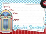 50s Party Invitation Templates Free Free Printable Party Invitations Free Invite Art for A