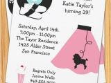 50s Party Invitation Templates Free Retro 50 39 S Poodle Skirt Party Invitation