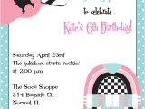50s Party Invitation Templates Free sock Hop Birthday Party Invitations
