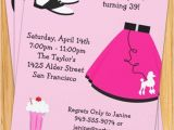 50s Party Invitations Free 50 39 S Poodle Skirt Party Invitation