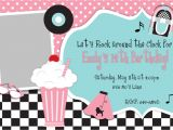 50s theme Party Invitations 50 39 S Fifties theme Birthday Party Inivtation