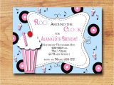 50s theme Party Invitations 50s Party Invitations Cimvitation