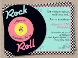50s theme Party Invitations 50s theme Party Invitations A Birthday Cake