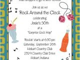 50s theme Party Invitations Image Detail for 50 39 S theme Birthday Party Invitation