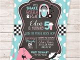 50s theme Party Invitations Printable 50 39 S Birthday Party Invitation sock Hop