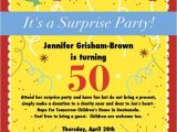 50th Anniversary Surprise Party Invitations 50th Birthday Surprise Party Invitations Free Invitation