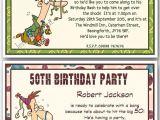50th Birthday Invitation Ideas Funny 30th 40th 50th 60th 70th 80th Personalised Funny Birthday