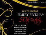 50th Birthday Invitation Sample 50th Birthday Invitations and 50th Birthday Invitation