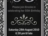 50th Birthday Invitation Templates Free Download Impressive 50th Birthday Party Invitation Template