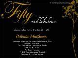 50th Birthday Party Invitation Samples 50th Birthday Invitation Wording Samples Wordings and
