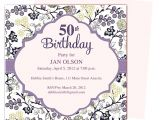 50th Birthday Party Invitation Template 50th Birthday Invitation Template Oxsvitation Com