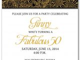 50th Birthday Party Invitation Templates 50th Birthday Invitation Templates Free Printable