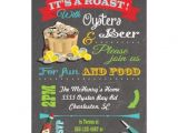 50th Birthday Roast Invitations Chalkboard Oyster Roast Party Invitations