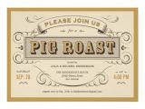 50th Birthday Roast Invitations Vintage Pig Roast Invitations