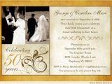 50th Wedding Invitations Designs Fashionable 50th Anniversary Photo Invitation Design