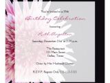 55th Birthday Party Invitations 55th Birthday Party Invitation Gerbera Daisy Zazzle