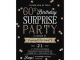 60th Birthday Brunch Invitations 60th Glitter Confetti Surprise Party Invitation Surprise