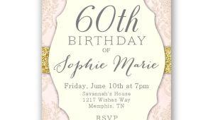 60th Birthday Brunch Invitations Elegant 60th Birthday Invitations Women 39 S 60th