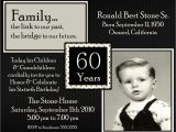 60th Birthday Invitation Sample 60th Birthday Party Invitations Wording Free Invitations