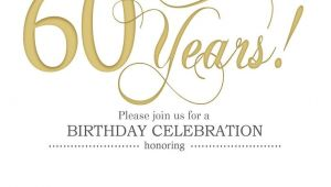 60th Birthday Invitation Template Cool Free Printable 60th Birthday Invitation Templates