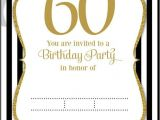 60th Birthday Invitation Template Download now Free Printable 60th Birthday Invitation