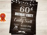 60th Birthday Invitations for Him Surprise 60th Birthday Invitation Man Surprise Birthday Party