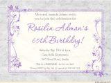 65th Birthday Invitation Verses Lavender Birthday 65th Party Invitation soft Gray Custom