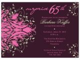 65th Birthday Party Invitation Wording andromeda Pink Surprise 65th Birthday Invitations Paperstyle