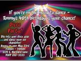 70 theme Party Invitation Wording 70 39 S Disco Dancing Fever Birthday Invitations Add 39 L