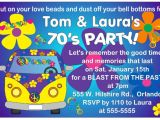 70 theme Party Invitation Wording 70 Birthday Invitations Templates Bagvania Free