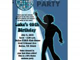 70 theme Party Invitation Wording Disco Ball 70 39 S theme Any Age Birthday Party Invitation Boy