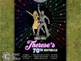 70 theme Party Invitation Wording Disco Invitation 70 39 S Disco Dance Night Party Invite Neon